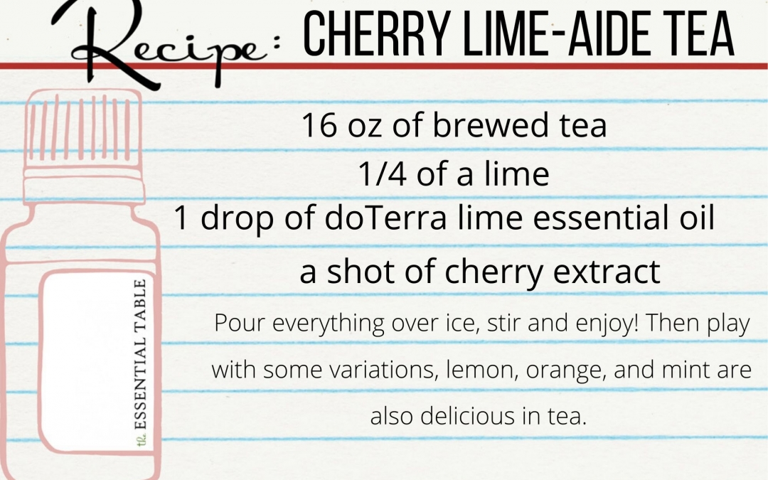 Cherry Lime-aide Tea Recipe Card