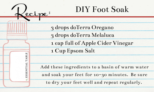 DIY Foot Soak recipe card